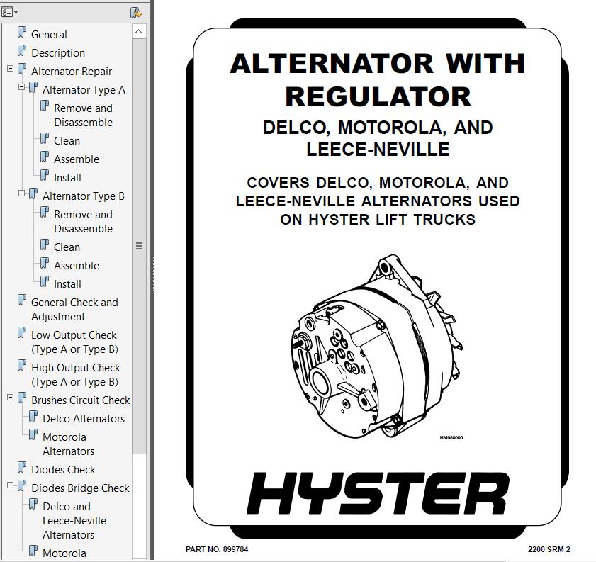 Hyster Class 5 For D007 Engine Trucks PDF Repair Manual
