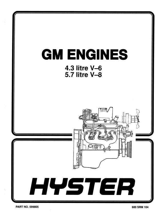 Hyster Class 5 F006 H135-155XL Trucks PDF Manual