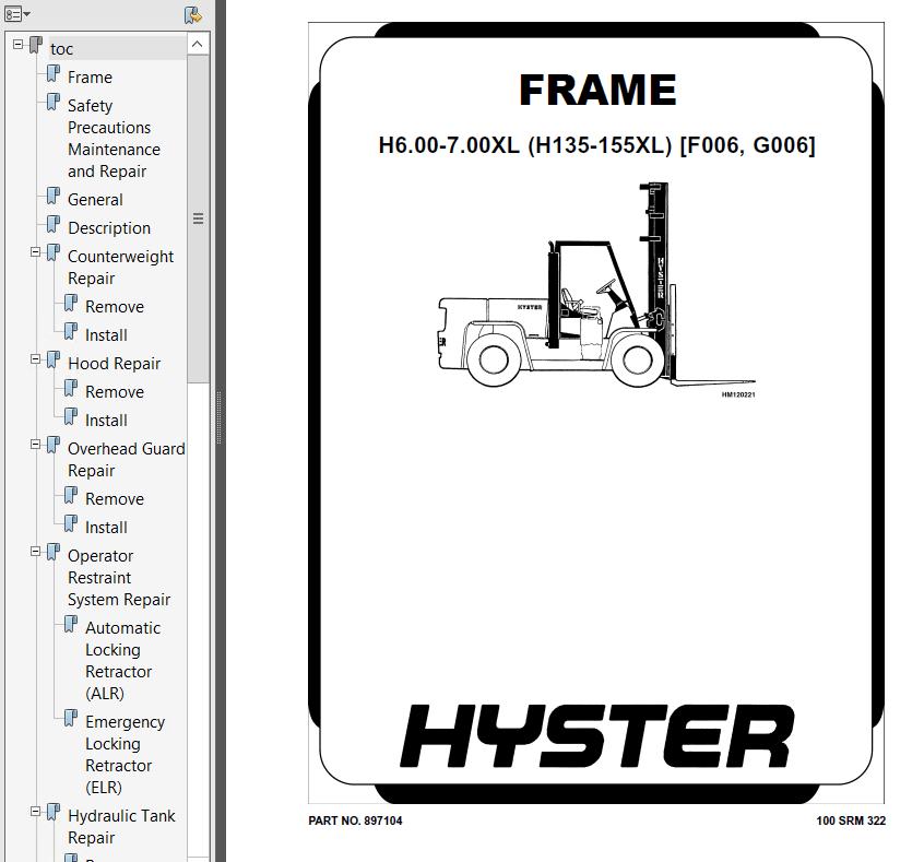 Hyster Class 5 G006 H135-155XL Combustion Trucks PDF