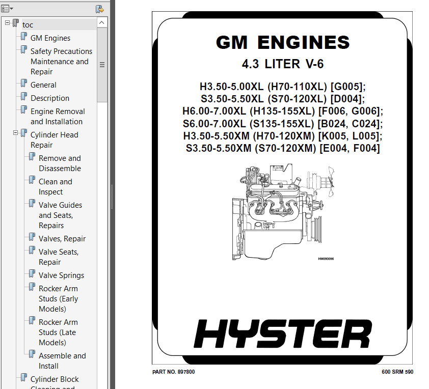 Hyster Class 5 K005 H70-120XM Combustion Trucks PDF