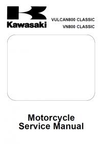 Kawasaki VULCAN800, VN800 Classic Motorcycle SM PDF
