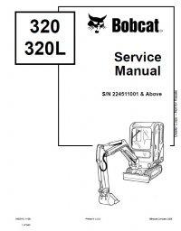 Bobcat 320, 320L Excavator Service Manual PDF