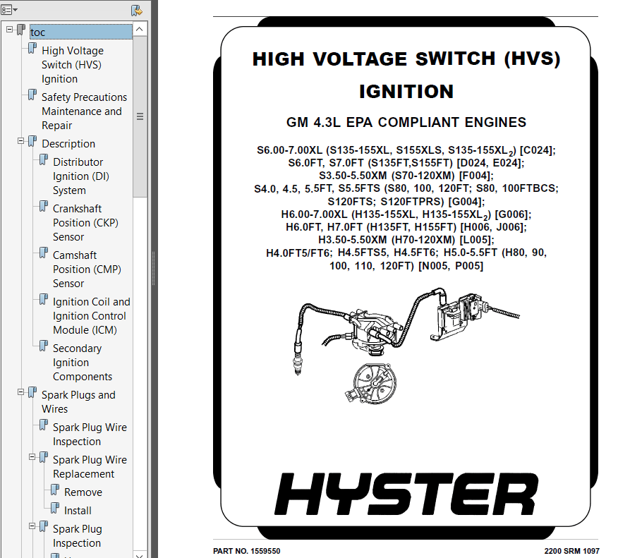 Hyster Class 4 E024 Internal Combustion Engine Trucks PDF
