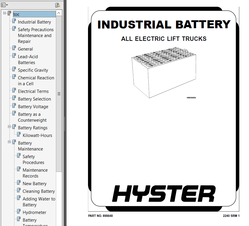 Hyster Class 3 A476 T5Z Electric Motor Hand Trucks PDF