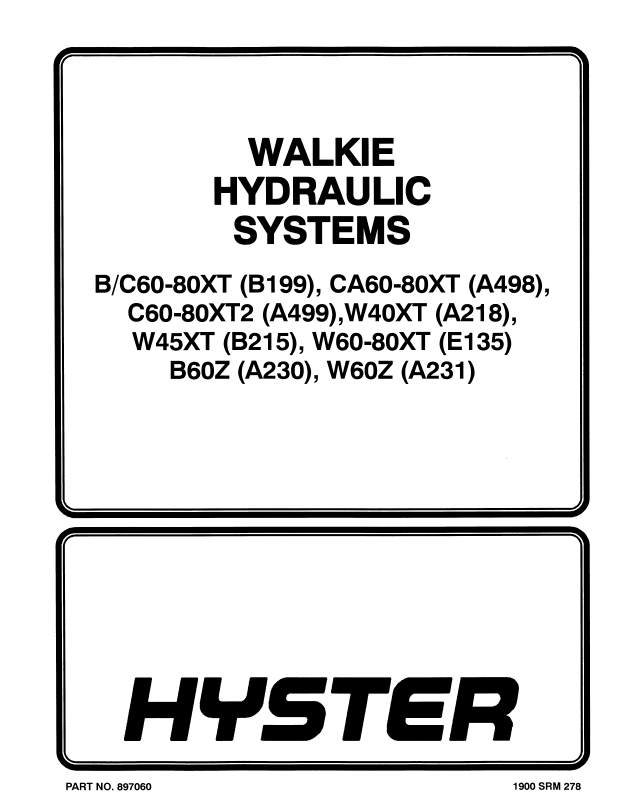 Hyster Class 3 A218 W40XT Electric Motor Hand Trucks PDF