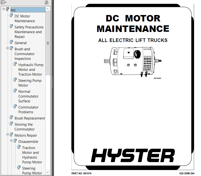Hyster Class 3 For A233 B80Z Electric Motor Hand Trucks PDF