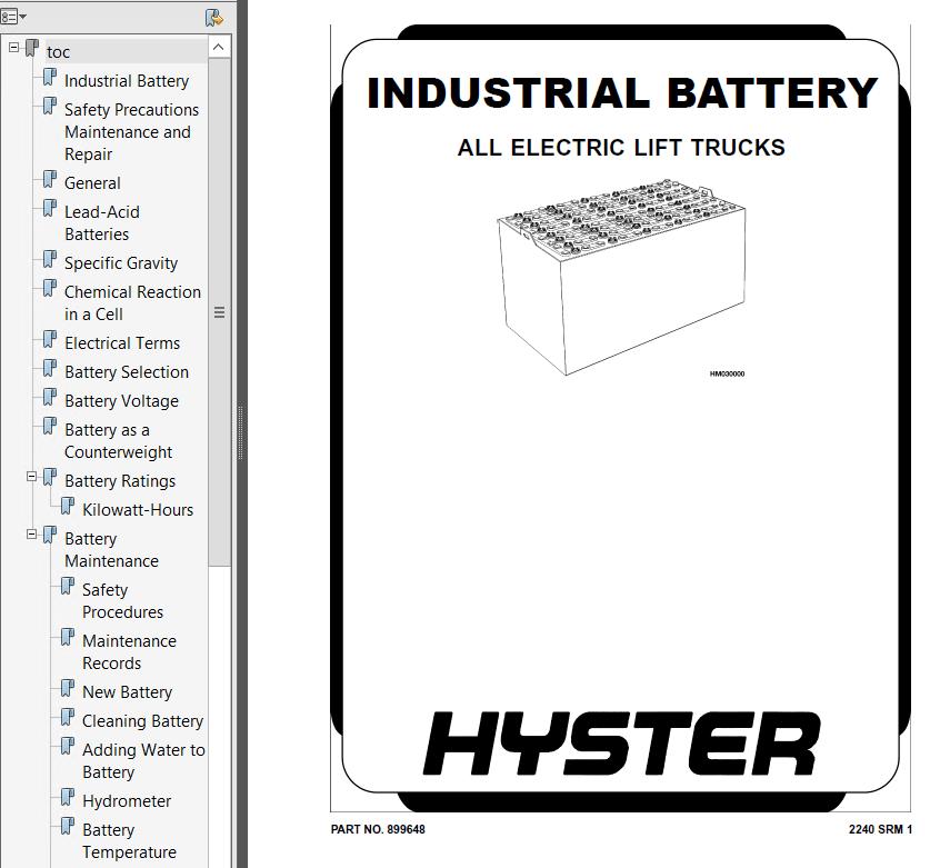 Hyster Class 3 B477 T7ZAC Electric Motor Hand Trucks PDF