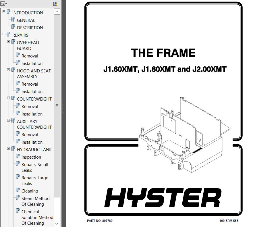 Hyster Class 1 E160 J1.60-2.00XMT Europe Rider Trucks PDF