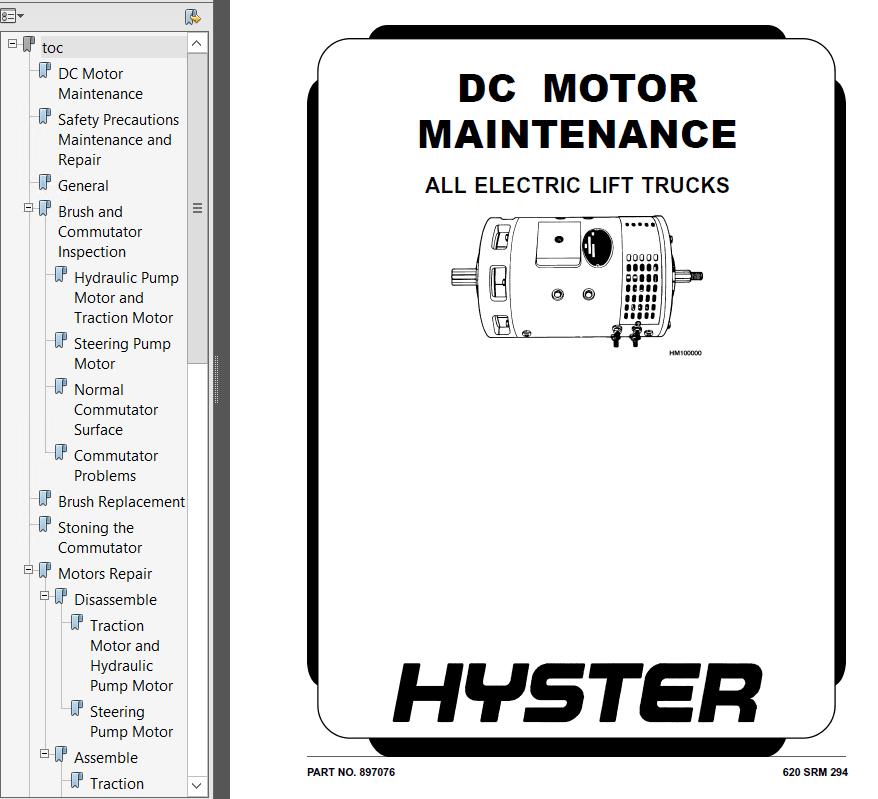 Hyster Class 1 B416 J2.00XM J2.50XM J3.00XM J3.20XM PDF