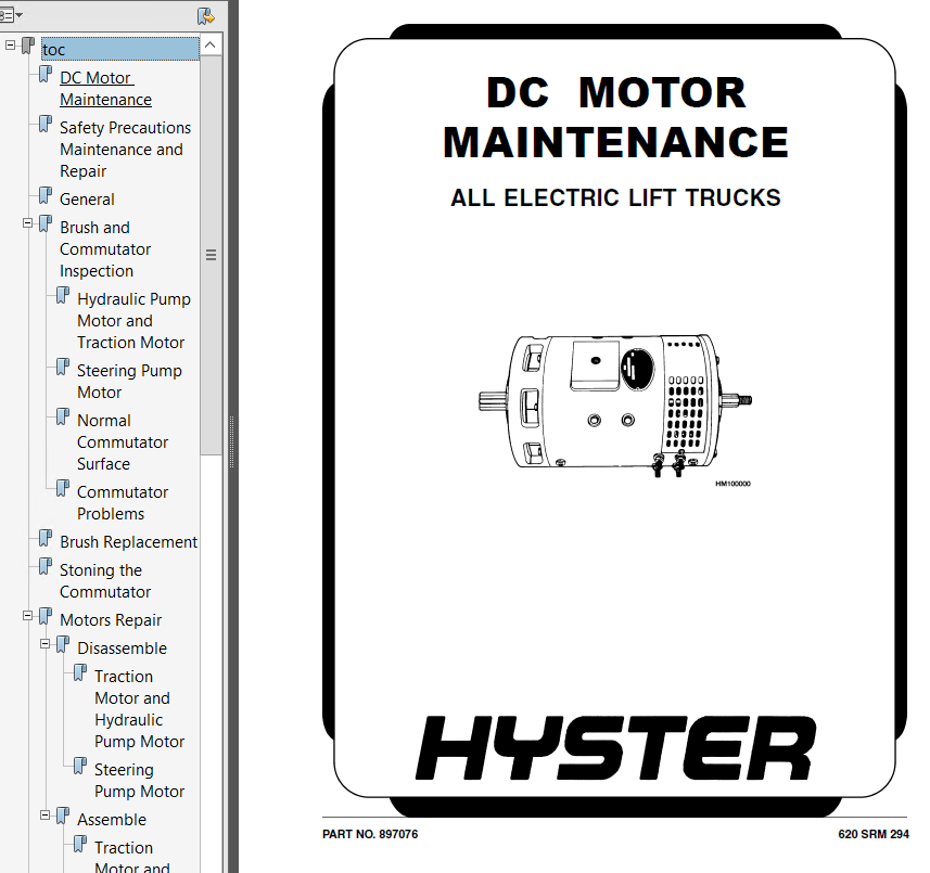 Hyster Class 2 C210 N30XMH Motor Narrow Aisle Trucks PDF