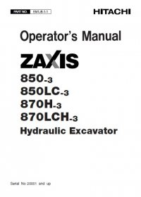 Hitachi ZX850-3 ZX850LC-3 ZX870H-3 ZX870LCH-3 PDF