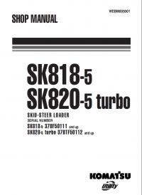 Komatsu Skid-Steer Loader SK818-5, SK820-5 Turbo Manual