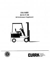 Clark ECS 17-30 SM548H Service Manual PDF