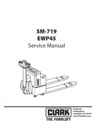 Clark EWP45 SM719 Service Manual PDF