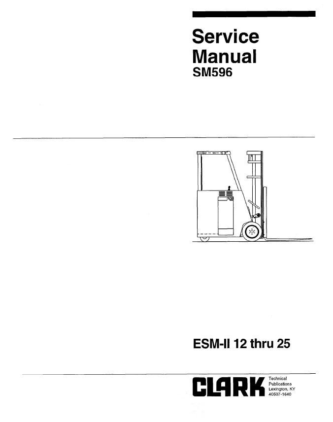 Clark ESM-II 12/25 SM596 Service Manual PDF