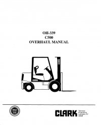 Clark C500 OH-339 Overhaul Manual PDF
