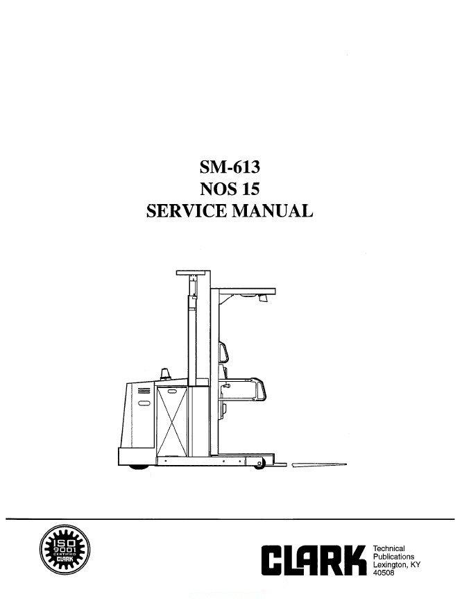 Clark NOS15 SM613 Service Manual PDF