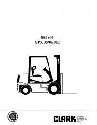 Clark GPX 35/40/50E SM606 Service Manual PDF
