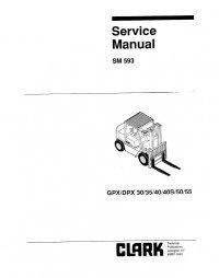 Clark GPX/DPX 30/35/40/40S/50/55 SM593 PDF Manual