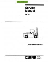 Clark GPH/DPH 50/60/70/75 SM591 Service Manual PDF