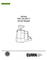 Clark PWC30 & PWT7 SM614 Service Manual PDF
