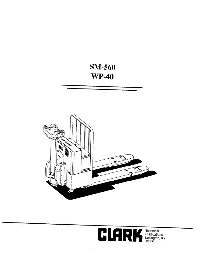 Clark WP-40 SM560 Service Manual PDF