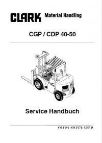 Clark CGP / CDP 40-50 Forklift Service Manual PDF