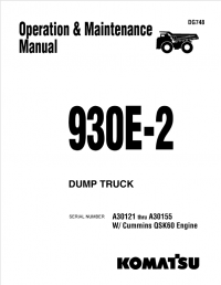 Komatsu 930E-2 Dump Truck Operation Maintenance Manual