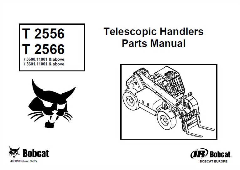Bobcat Telescopic Handlers Set of PDF Parts Manuals