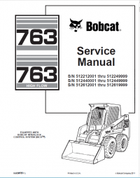 Bobcat 763, 763 High Flow Loaders Service Manual PDF