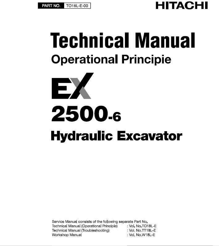 Hitachi EX2500-6 Excavator Service Repair Workshop Manual