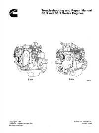 Cummins B3.9 B5.9 Engines Troubleshoot Repair Manual PDF