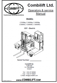Combilift Forklift parts catalogue and repair manuals