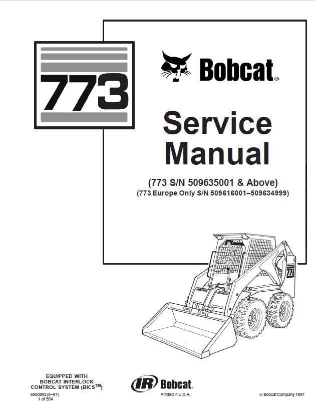 Bobcat 773 Loader Service Manual PDF Download
