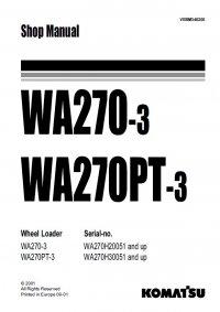 Komatsu WA270-3/PT-3 Wheel Loader Shop Manual PDF Download