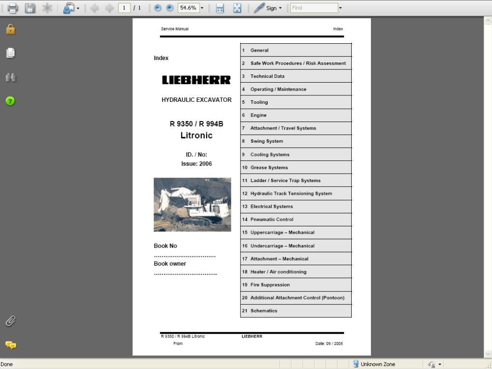 medium resolution of repair manual liebherr a 309 r 317 crawler excavator