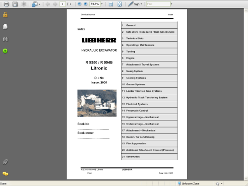 small resolution of repair manual liebherr a 309 r 317 crawler excavator