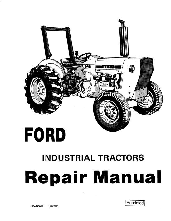 New Holland Ford Industrial Tractors Workshop Manual Download
