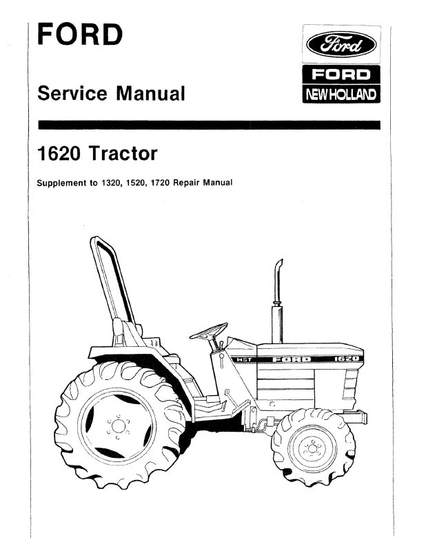 New Holland Ford 1620 Tractor Workshop Repair Manual PDF