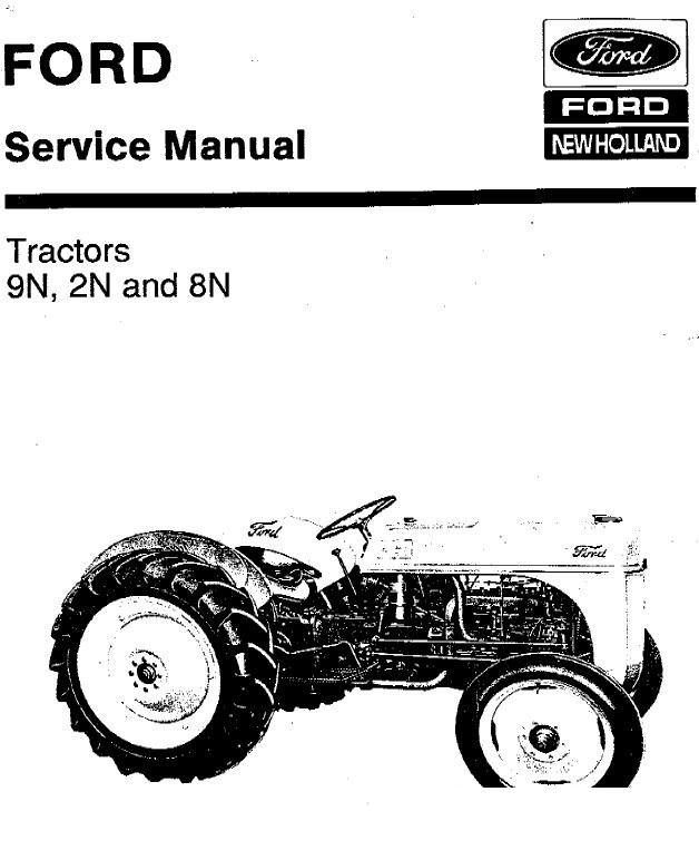 New Holland Ford 9N 2N 8N Service Manual PDF