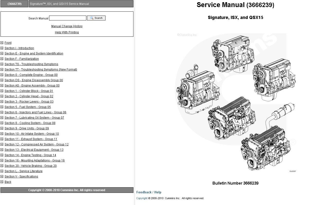 hight resolution of repair manual cummins engine signature isx qsx15 service manual
