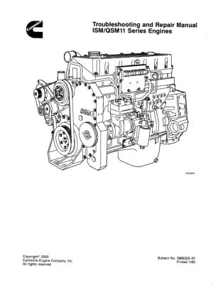 Cummins ISM  QSM11 Series Engines Repair Manual PDF