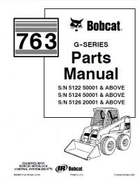 Bobcat 763 G-Series Skid Steer Loader Parts Manual PDF