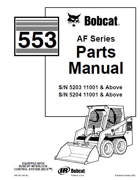 bobcat s130 parts manual