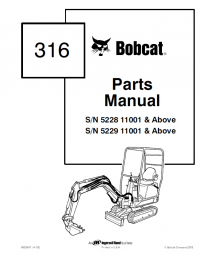 Bobcat 316 Skid Steer Parts Manual PDF