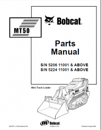 Bobcat MT50 Mini Track Loader Parts Manual PDF