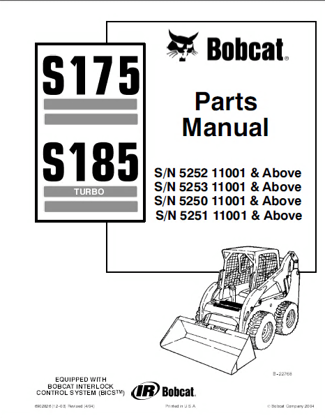 Alternator Wire Harness S175 Bobcat