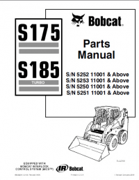 Bobcat S175 & S185 Turbo Skid Steer Loader Parts Manual PDF