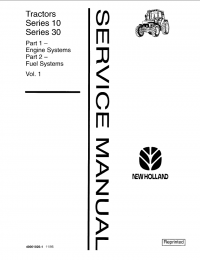 New Holland Ford Series 10, 30 Tractor Service Manual PDF