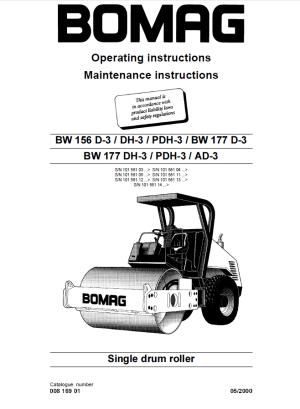 Bomag BW156D3DH3PDH3, BW177D3DH3PDH3AD3 PDF